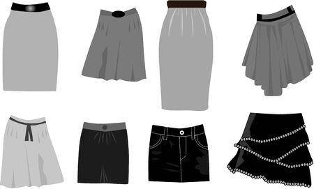 skirts-icon vector Vector