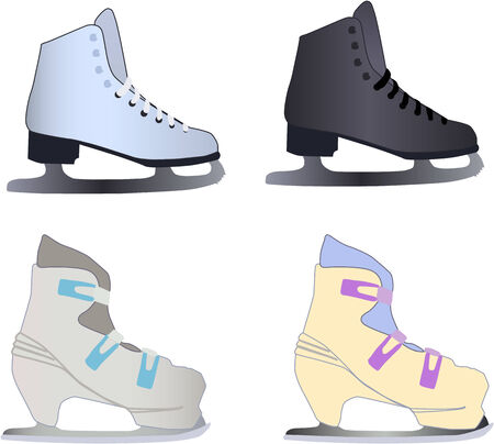 ice skates Vector