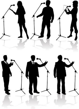 spreken in de microfoon