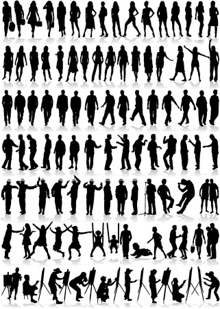 100 different situational profiles Vector