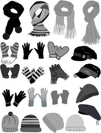 scarf: Winter wardrobe-icon vector