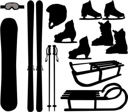 polo: Deportes de invierno - iconos vectoriales Vectores