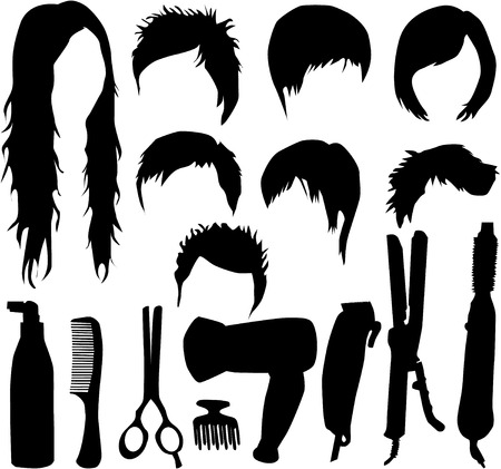 hairdressing accessories Illustration