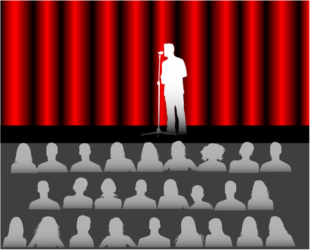 audience in the theater Vector