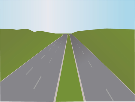 Motorway - Vector illustration Vector