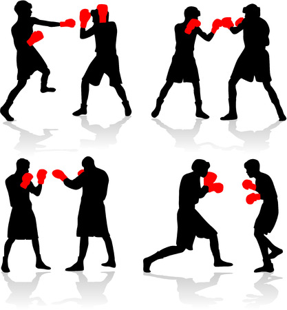 male boxer: boxing fight