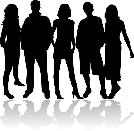 Friends - black sihouettes