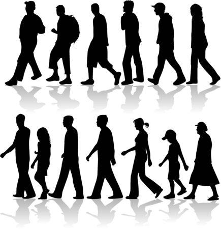 Walking Peopel- vector work