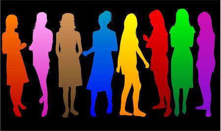 Fashion  Women color* Illusztráció