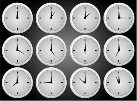 Clock icons Иллюстрация