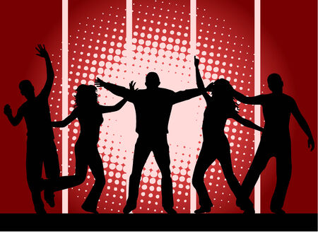 Party people - red background