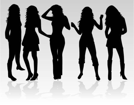 Beautiful  women dance  Vector