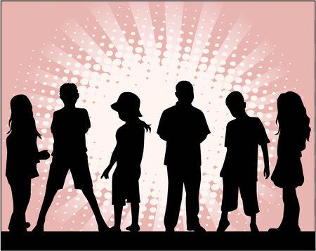 Enfants, vecteurs de travail Banque d'images - 8741559