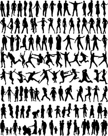 boy jumping: Tema siluetas de personas - gran colecci�n