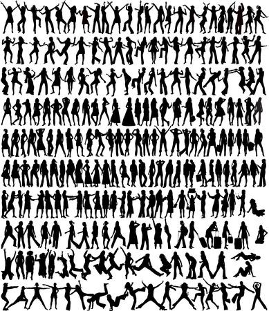 Vrouwen collectie - 233 silhouet Stock Illustratie