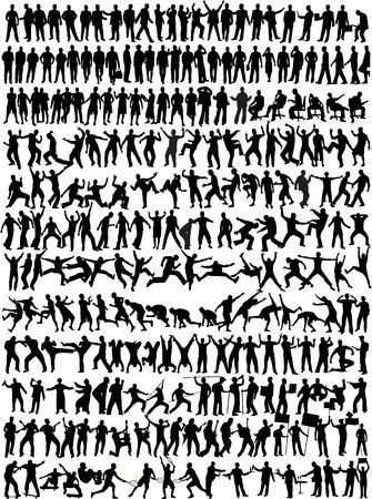 Man Collection - 245 silhouette  イラスト・ベクター素材