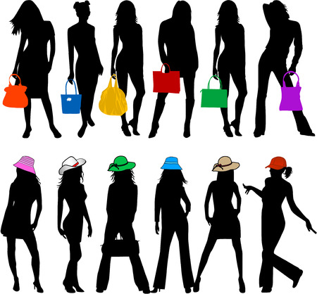 Fashionable woman Vector