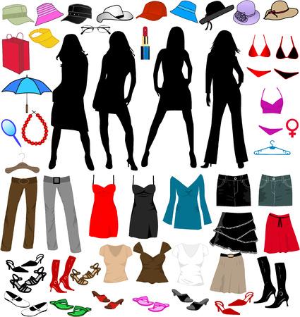 Ladys world -accesory, vectors work Vector