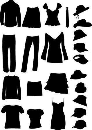 Dresses (women, man) , vector work Vector