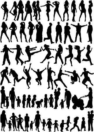 sujeto: Tema siluetas de personas - gran colecci�n