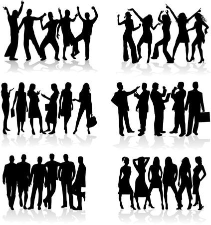 Profiles of people - work and fun Stock fotó - 8741747