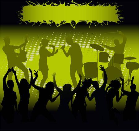 コンサート - 緑色の光