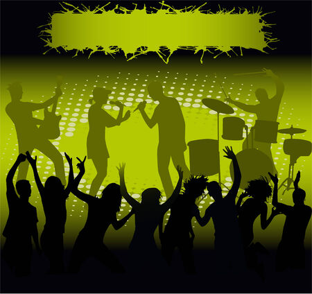 Concert - green  light Vector