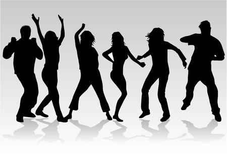 chicas bailando: Personas bailando 2, siluetas de personas bailando