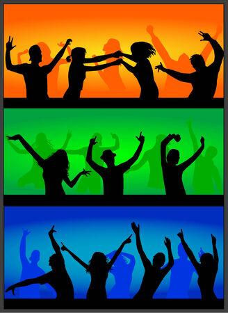 party time: Party time, Une foule de gens applaudir lors d'un concert.