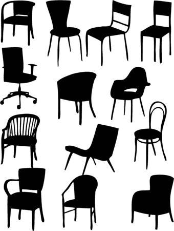 ベクトルの椅子 - シルエット