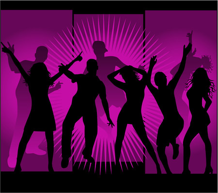sexy woman disco: Party time - vector work