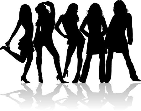 Beautiful  girls Vector