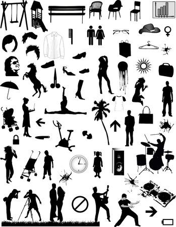 大きなコレクション - ベクター デザイン要素