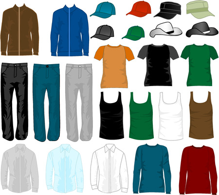 man clothing: Shopping - fashion mens  Illustration