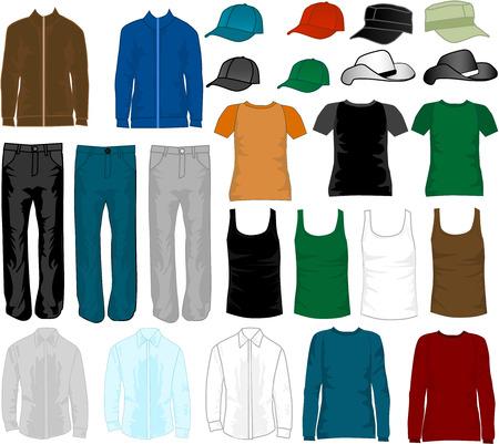 Shopping - fashion mens  Ilustração