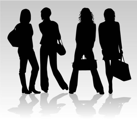 shopping-girls Vector