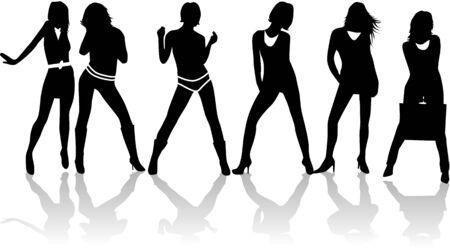 Set of fashion women vector Vector