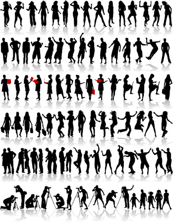 Big collection of silhouette Vector