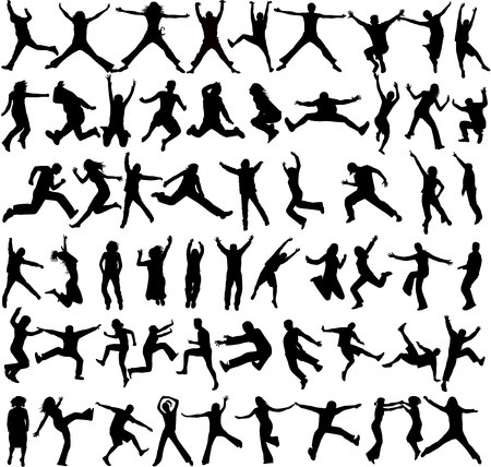 personas saltando: Salta