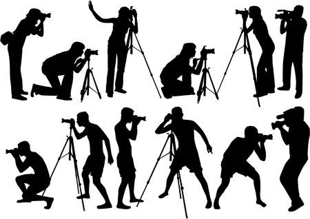 Fotografen  Stock Illustratie