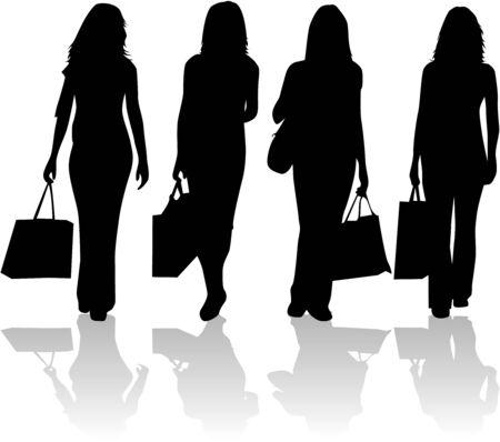 glamur: Shopping Girls - Vector work