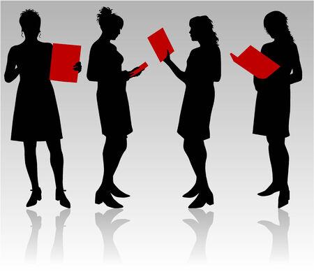 black lady talking: Mujeres empresarias Vectores