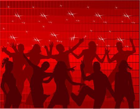 Dancing People Stock Vector - 8933722