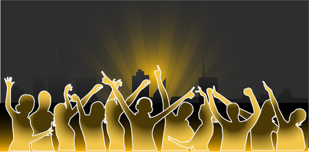 City Parties - Vector work Stock Vector - 8933666