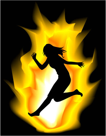 ardent woman Vector