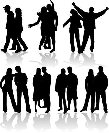 position d amour: Vecteur de gens de couple