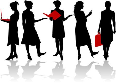 ビジネスの女性  イラスト・ベクター素材