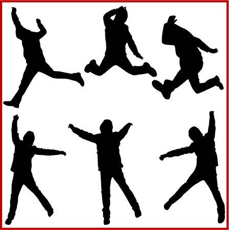 Jumping Man, Vector work