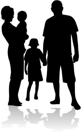 Familie liefdevolle 2 Stock Illustratie