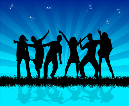 Outside  party , vector work Stock Vector - 8934153